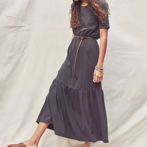Faherty Branson Dress in Washed Black size S NWT